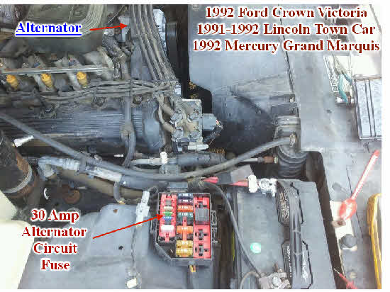 2012 ford f53 fuse diagram bad    fuse    causes new alternator to not work on 1992 mercury  bad    fuse    causes new alternator to not work on 1992 mercury