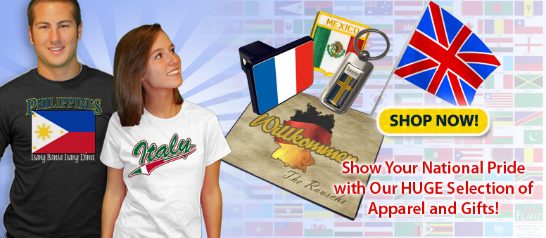 Nationality Clothes, Nationality  Gifts & Nationality  Merchandise