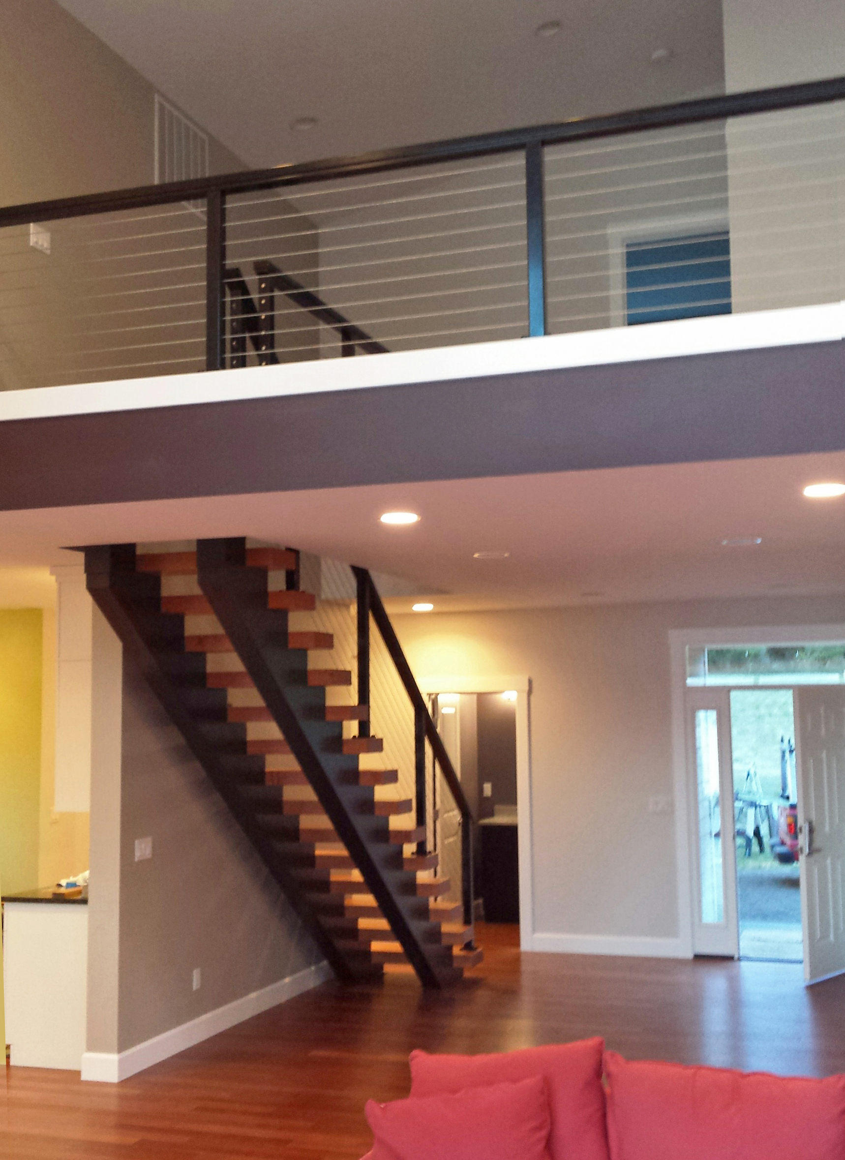 Black Aluminum Railing System For Contemporary Loft U0026 Staircase
