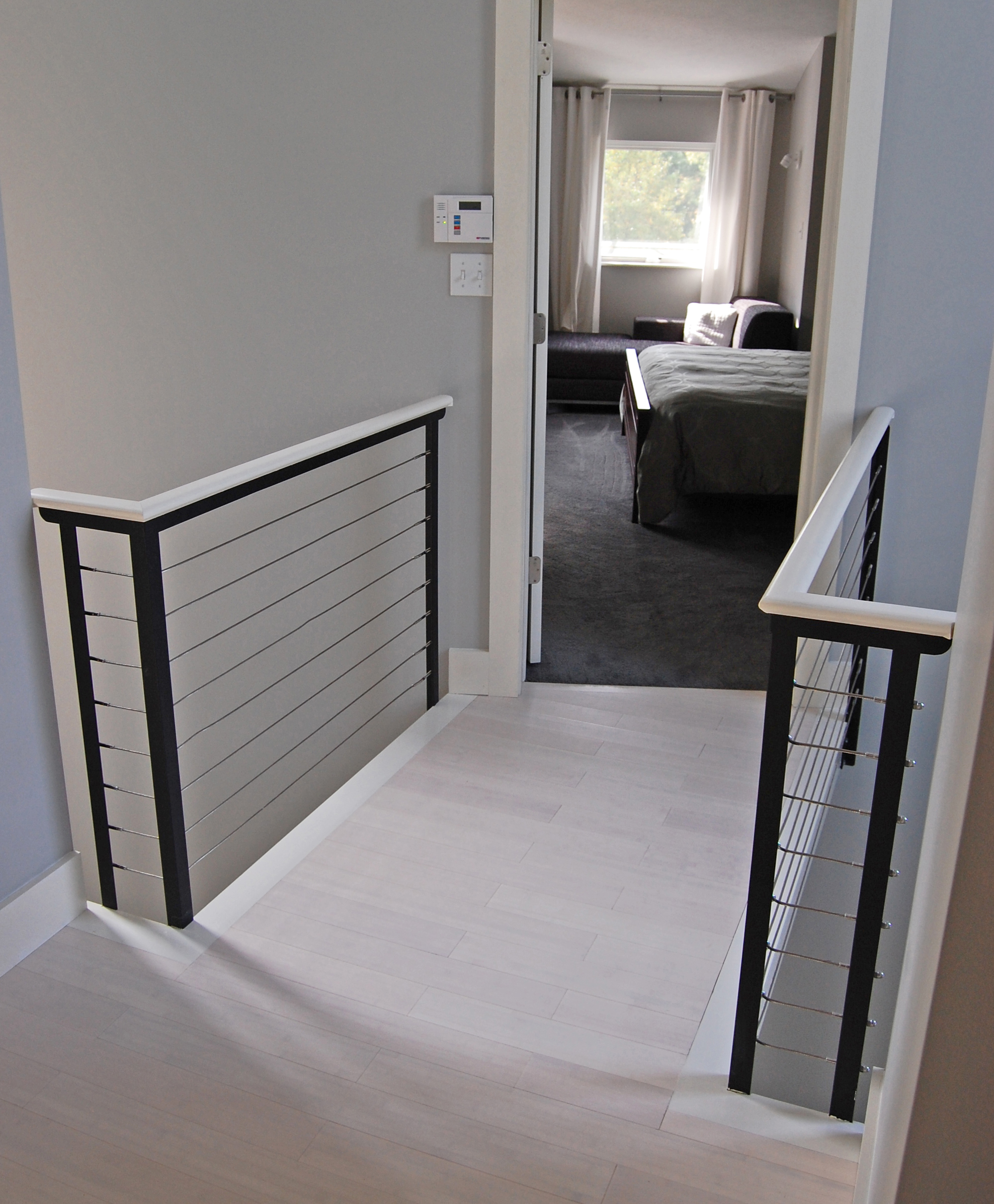 cable infill indoor cable railing idea