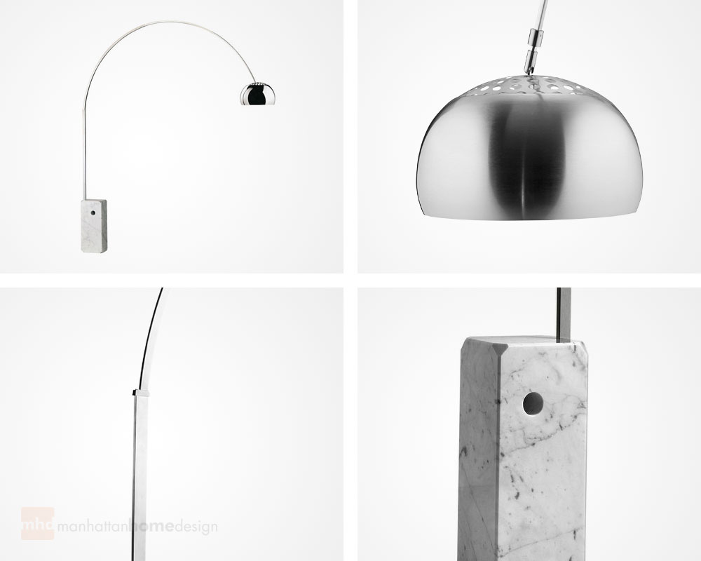 arco floor lamp  castiglioni arch lamp - the manhattan home design arco floor marble lamp originally designed bycastiglioni is a musthave accessory that provides an excellent modern and
