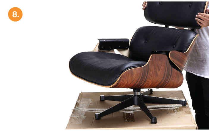 Eames Chair Leather eames lounge chair replica, antique brown | manhattan home design