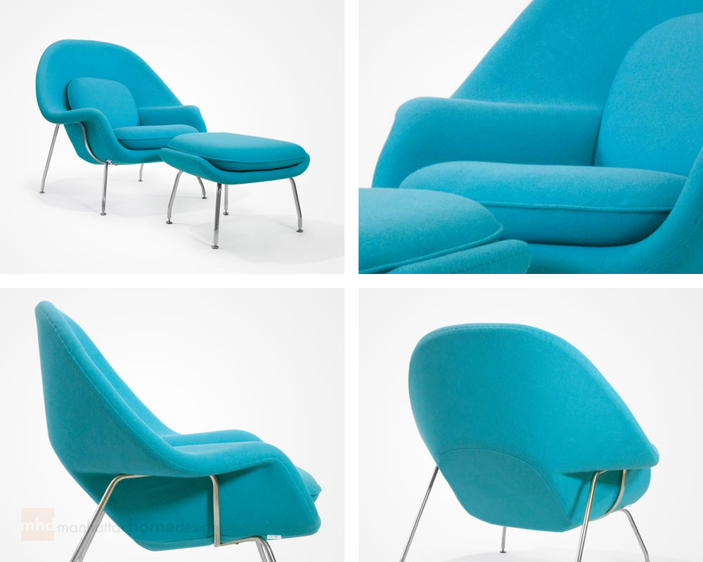 One   Womb Lounge Chair; One   Womb Ottoman