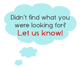 Didn't find what you were looking for? Let us know!