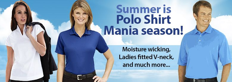 Summer is Polo Shirt Mania Season!