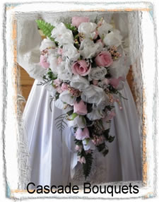 Cascade Silk Wedding Bouquets
