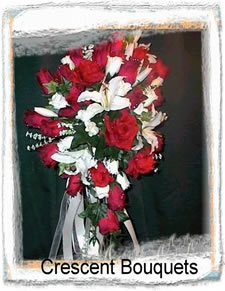 Crescent Silk Wedding Bouquets