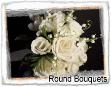 Round Silk Wedding Bouquets