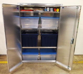 Recycling Center Storage Cabinets from Garage Pals