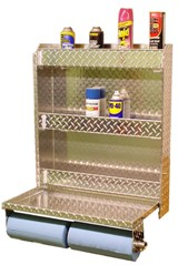Diamond Plate Aluminum Workstation from Garage Pals