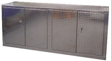 8 Ft Diamond Plate Aluminum Base Cabinet from Garage Pals