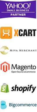 Yahoo, Magento, Big Commerce, Shopify, Miva Merchant, X-Cart