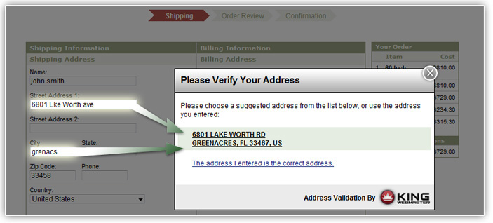 Address Validation for Yahoo! Stores