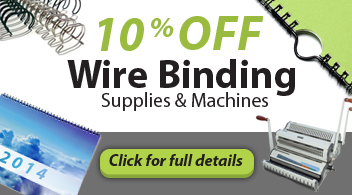 10% Off Wire Binding Machines & Supplies from Binding101