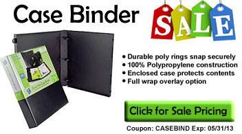 Case Binder Sale
