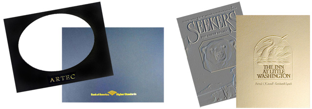 Custom Foil Stamped, Embossed & Window-Cut Covers