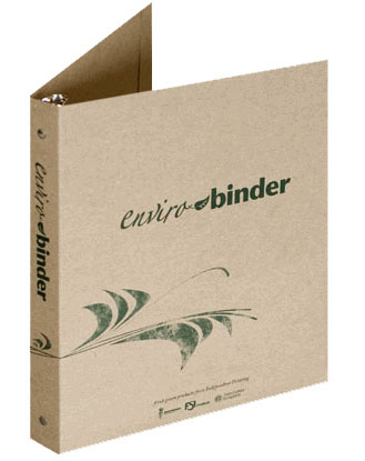 Example of a Customized Eco-Friendly Binder