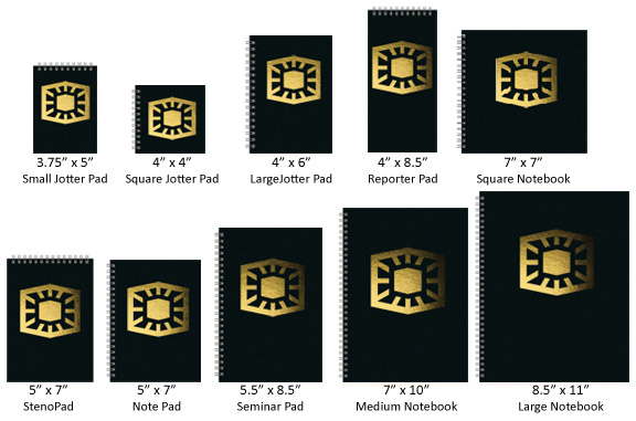 Custom Journal Standard Sizes