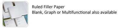 Window Journal Filler Paper Options