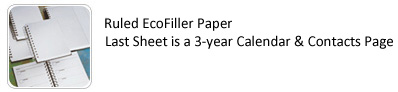 Poly Journal Filler Paper Options