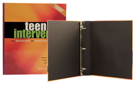 Example of a Customized Turned-Edge Binder