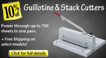 10% Off Guillotine & Stack Cutters from Binding101