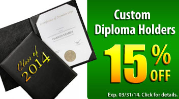 15% Off Custom Diploma Holders - Binding101