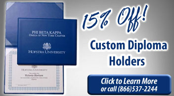 15% Off Custom Diploma Holders