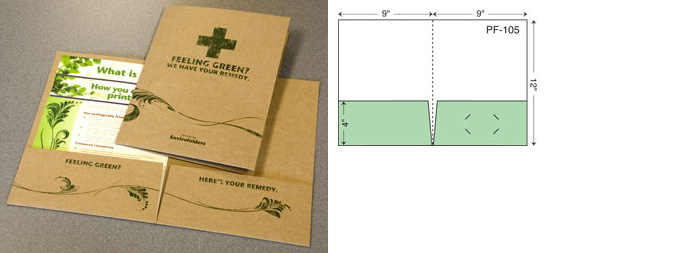 Enviro Eco-Friendly Custom Pocket Folder Styles