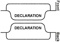 Style A, Bottom Tabs, Declaration Exhibit Divider Printing