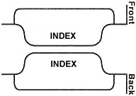Style A, Bottom Tabs, Index Divider Printing