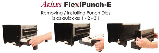 Akiles FlexiPunch Binding Machine Steps to Change Dies