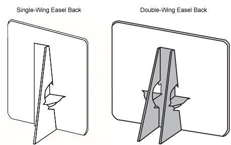 Single vs. Double-Wing Easel Backs
