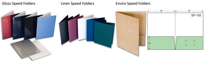 Speed Gloss Custom Pocket Folder Styles