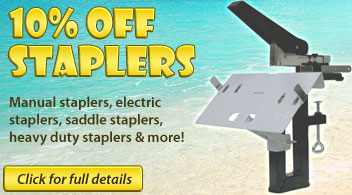 10% Off Stapler Purchase from Binding101