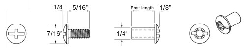 Steel Screw Post Diagram