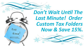15% Off Custom Tax Folders