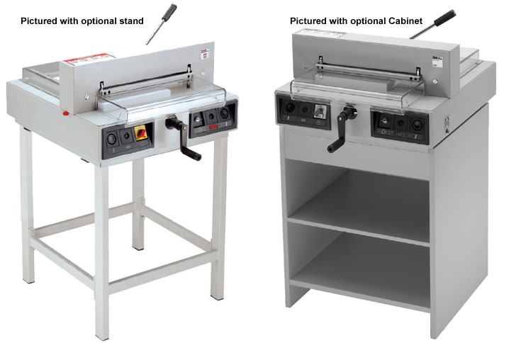 Triumph 4315 Electric Paper Cutter Stand Options