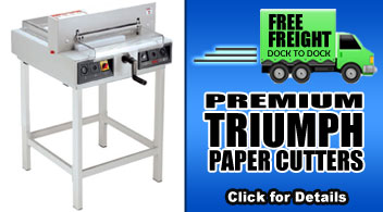 Free Freight on Select MBM Triumph Cutters - Binding101