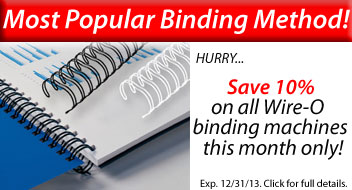 10% Off Wire Binding Machines - Wire Binding Machine Sale