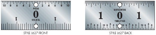 Printers' Center Finder Ruler Styles
