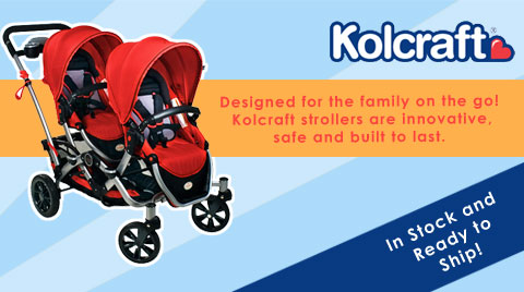 Contours Tandem and Options strollers and Kolcraft Umbrella strollers.