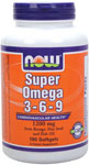 Super Omega 3-6-9 1200 mg - 180 Gels, NOW Foods
