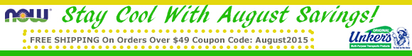 Free Shipping on orders over $49 15% off unkers with coupon code unkers
