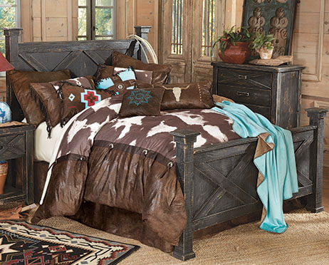 Western decor western bedding turquoise star laredo bedding set