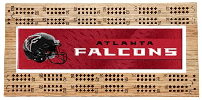 Atlanta Falcons NFL Cribbage Boards