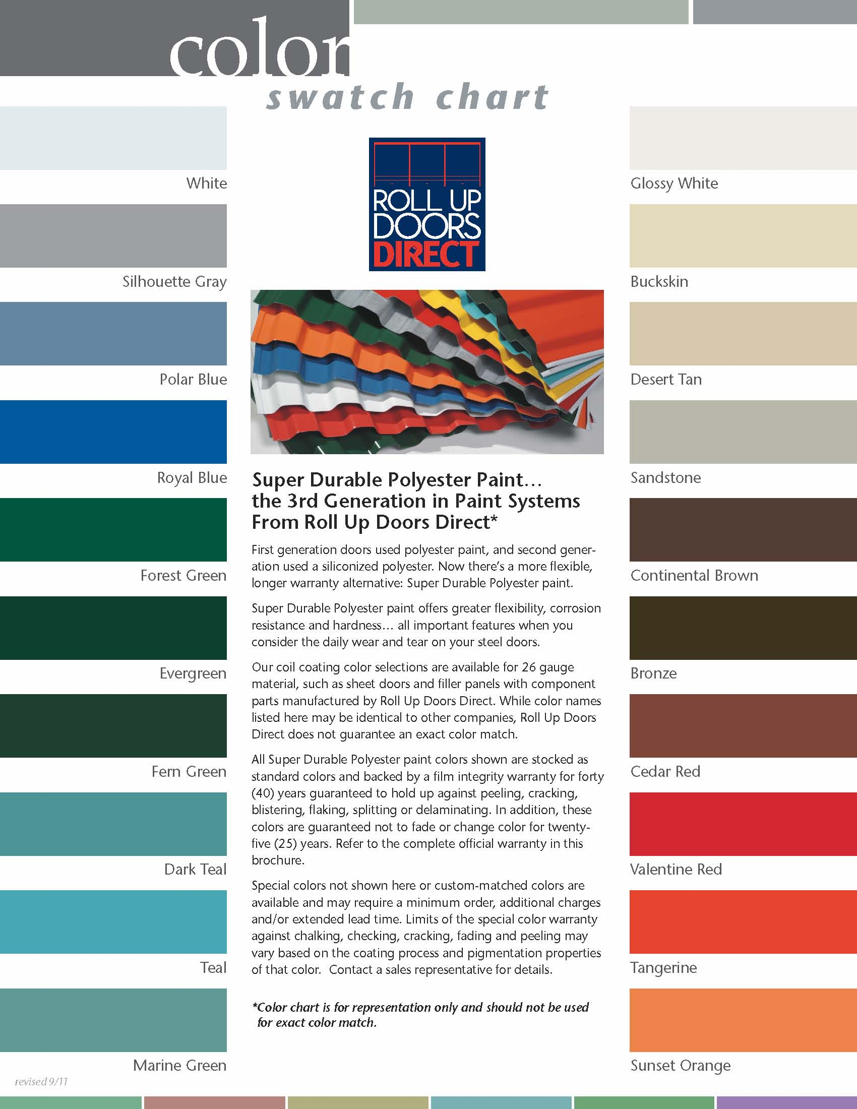 garage doors directWhat Colors Are Roll Up Doors Avaliable In