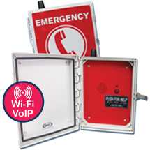 970WIFIV Emergency Speaker (Hands Free & Wireless Wi-Fi VoIP) Pool Phone