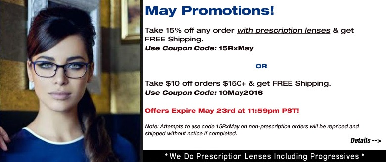 May Promotions!