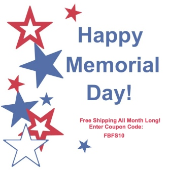 Celebrate Memorial Day with Free Shipping